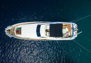 bodrum drone yat tekne çekimi